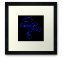 Mr Game & Watch Framed Print