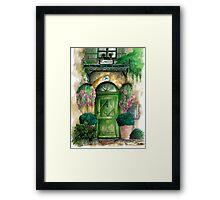 door collection: green door Framed Print
