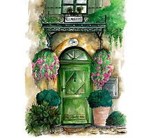 door collection: green door Photographic Print