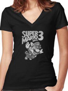 Super Mario Bros. 3 Nintendo Women's Fitted V-Neck T-Shirt