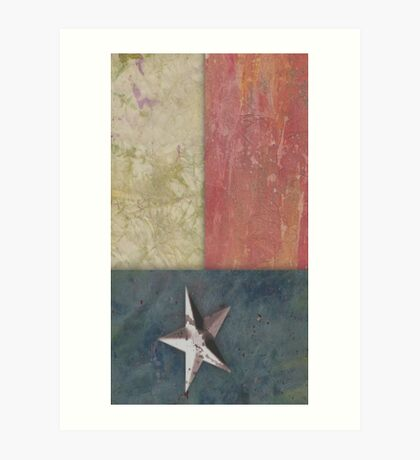 Paper Flag - Texas Art Print