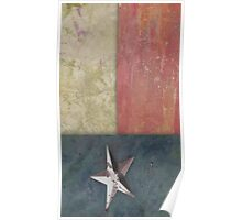 Paper Flag - Texas Poster