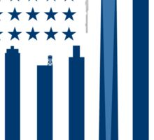NYC flag USA Sticker