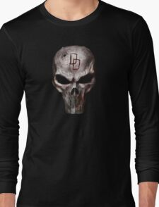 The Punisher with Daredevil inscription Long Sleeve T-Shirt