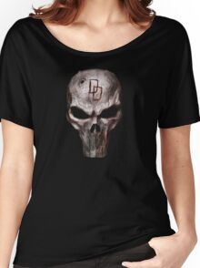 The Punisher with Daredevil inscription Women's Relaxed Fit T-Shirt