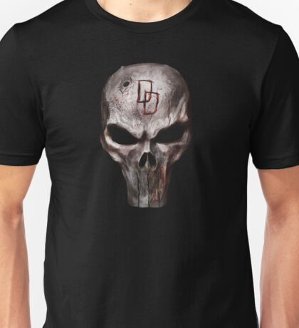 The Punisher with Daredevil inscription Unisex T-Shirt