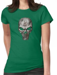 The Punisher with Daredevil inscription Womens Fitted T-Shirt