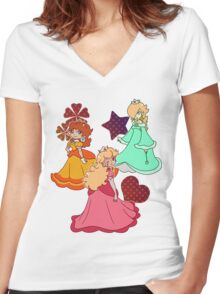 Three Princesses Women's Fitted V-Neck T-Shirt