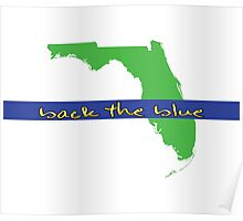 Back the blue - Florida Poster