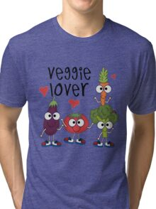 Vegetables Vegetarian Veggie Lover Tri-blend T-Shirt