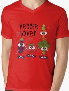 Vegetables Vegetarian Veggie Lover Mens V-Neck T-Shirt