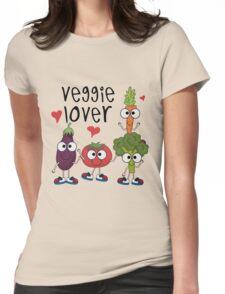 Vegetables Vegetarian Veggie Lover Womens Fitted T-Shirt