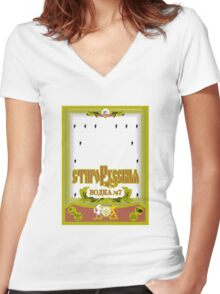 Russian Vodka Women's Fitted V-Neck T-Shirt