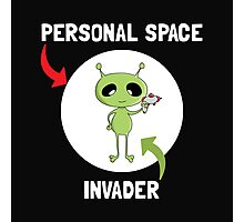 Personal Space Invader Photographic Print