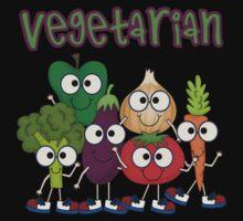 Silly Vegetables Veggies Vegetarian Baby Tee