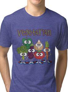 Silly Vegetables Veggies Vegetarian Tri-blend T-Shirt