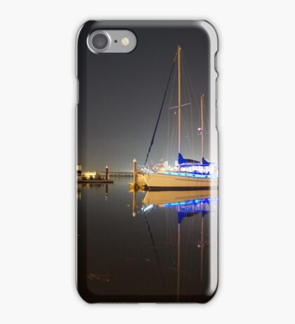 Baltimore, MD (USA) Fell's Point Marina at night iPhone Case/Skin