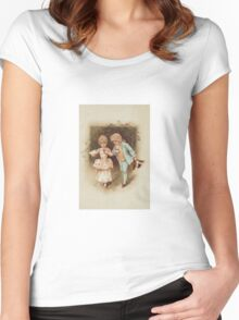 Wedding invitation Vintage illustration Women's Fitted Scoop T-Shirt