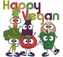 Veggies Vegetables Happy Vegan Photographic Print