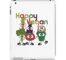 Veggies Vegetables Happy Vegan iPad Case/Skin