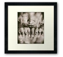 TATTOO DESIGN LOVE LIFE Framed Print