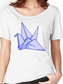 Blue Paper Crane Women's Relaxed Fit T-Shirt