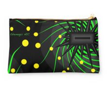 Black Fusion with Green & Yellow Studio Pouch