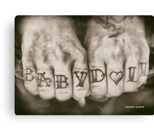Tattoo Design Baby Doll Babydoll Canvas Print