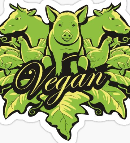 Go vegan for life Sticker