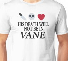 Vane (Black Text) Unisex T-Shirt