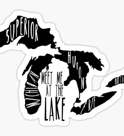 Meet Me At The Lake Sticker