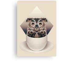 Caffeinimals: Owl Canvas Print