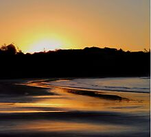 Sunset Behind The Beach by Kate Trenerry