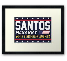Santos and McGarry Campaign Poster from West Wing Framed Print