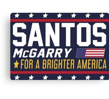 Santos and McGarry Campaign Poster from West Wing Canvas Print