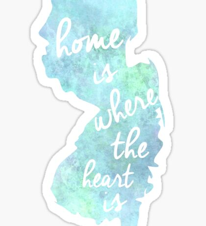 NJ Home Is Where The Heart Is  Sticker