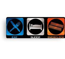 Eat sleep Overclock Canvas Print