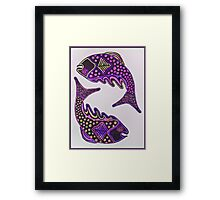 Leaping Fish Framed Print