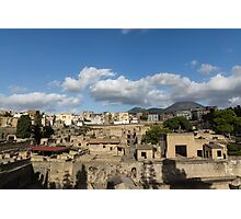 Ancient Herculaneum Ruins - Sunny Afternoon From Above  Photographic Print