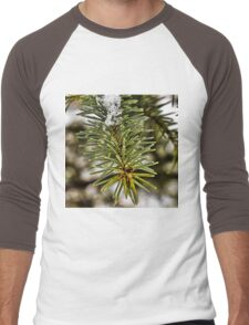 Close up Pine Men's Baseball ¾ T-Shirt