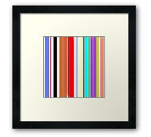Laideur style Lines color graphic t-shirt  Framed Print