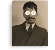Modern Art Man Portrait with flower  Print Canvas Print