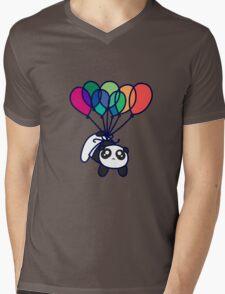 Kawaii Balloon Panda Mens V-Neck T-Shirt