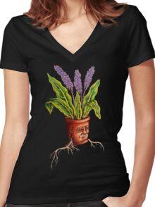 Brain Full of Dirt Women's Fitted V-Neck T-Shirt
