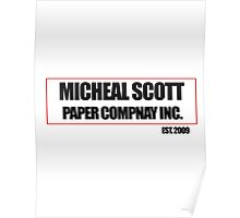 Micheal Scott Paper Company Tee Poster