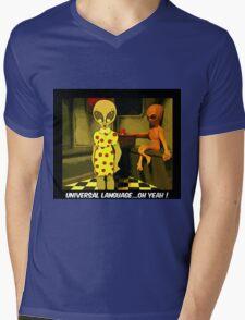 Universal Language Mens V-Neck T-Shirt