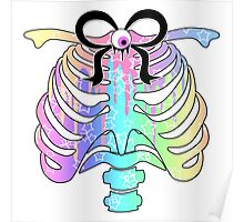 Pastel Rainbow Ribcage Poster
