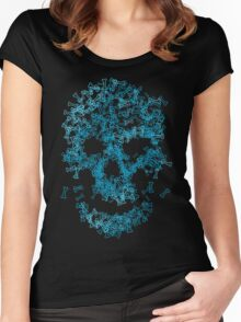 Bones Scull Women's Fitted Scoop T-Shirt