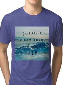 Think Of Happy Thoughts- Quote- Life- Happiness, Hipster Tri-blend T-Shirt