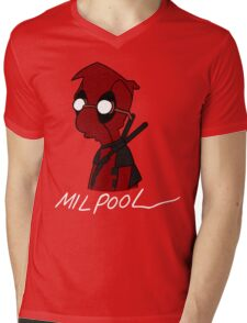 Milpool Mens V-Neck T-Shirt